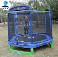 Wholesale Folding Trampoline With Fence For Children Fitness amp Body Building Bounce Bed Toy Sports Toy