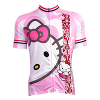 Wholesale 2014 Aliensports New Women s Cycling cartoon Shirt Bicycle Jersey pink in stock Size S XL