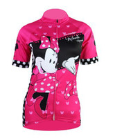 Anti Bacterial bicycle shirts - 2014 Aliensports women s Cycling red mouse Bicycle Jersey special Bike Wear in stock Size S XL