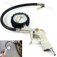 Wholesale Quickly Delivery Car Motorbike Truck Tire Tyre Air Inflator Dial Pressure Metal Gauge Measurement