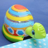 Unisex 0-12M Plastic Brand New Lovel PVC Animal Inflatable Air-Filled Swimming Pool Shower Baby Turtle Toys For Baby Children Kids Birthday Gift