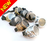 Wholesale HOTSALE NEW CYBER GOGGLES STEAMPUNK WELDING GOTH COSPLAY VINTAGE GOGGLES Sunglasses RUSTIC