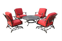 Wholesale Spring Promotion NEW Cast Alu ChatSet with Fire Table US out Patio furniture outdoor furniture