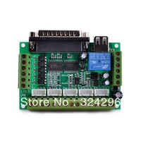 Navo N/A  Navo MACH3 5 axis CNC Stepper Motor Driver Interface Board w USB Cable-Green+Silver
