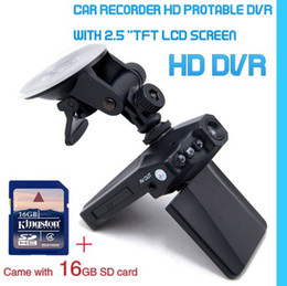 NEW 2.5 inch LCD 270 Degree Rotatable 6 IR LED HD Car DVR Camera and 16GB SD Card