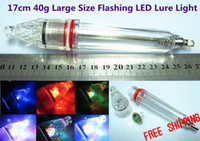 Wholesale cm g New Large Size Flashing LED Deep Drop Underwater Fishing Baits Squid Lure Lures Light