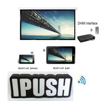 Wholesale iPush W6 Support Full HD Wifi HDMI Display Video Audio Wireless to TV Win7 Windows with APK for Android IOS Apple Smartphone Computer MID