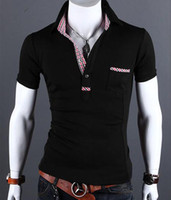 Men 100% Cotton  Europe and the British van lapel Q15 of cultivate one's morality short sleeve summer wear men's clothing