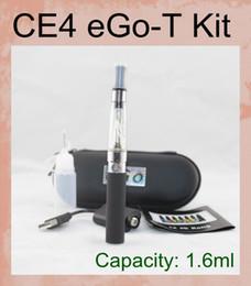 CE4 Single E Cig Zipper Kits 650mAh.900mAh 1100mAh E Cigarette eGo Kits with eGo-T Battery Full Capacity IN Stock YA0029