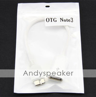 For Samsung   White 20cm OTG Cable Adapter for Samsung Galaxy Note3 N9000 OTG Cable with retail package DHL FEDEX FREEE 100pcs up