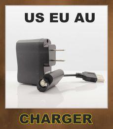 EGO USB Charger + US EU AU UK Wall Charger for ego ego-t ego-w ego-c Battery e-cigarette electronic cigarette e-cig black Hot Sale