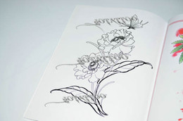 Wholesale Hot Butterfly And Flowers A4 Manuscript Tattoo Tattoo Book Designs