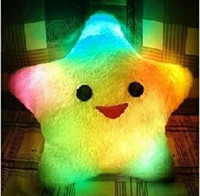 Wholesale Cute Colorful Illuminated Star Shaped LED Cushion Throw Pillow Novelty Gifts K08082