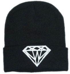 Wholesale Promotion hats New Arrival Fashion Brand DIAMOND Beanie Hat Football Skullies Wool zen style Winter Warm Knitted Caps Man Women Free