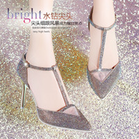 Women Stiletto Heel Sequined Cloth Fashion Brand Moolecole Heels Women High Heel Sandals 2014 Pointed Toe Pumps Sexy Ladies Summer Sandal Shoes Nice Gold Silver Cheap on sale