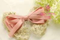 Headbands Lace Floral 20pcs lot mix colors lace butterfly bow flower Hair clips Hair Pins Barrettes for kids girls Accessories BA105