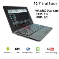 Wholesale 10 quot Netbook VIA Dual Core Tablet PC Android CPU GHz Wifi G RAM GB HDD HDMI Russian Keybard option