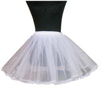 Polyester tulle petticoat - 2015 Tulle White Black Hoop Short Layer Short Ballet Skirt Crinoline Petticoat Underskirt Slips