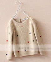 2014 Children Lovely Muti- colored Heart Sweater Kids Gracefu...