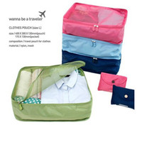 Wholesale 5pcs New Women s Travel Storage Bags Fashion Contracted Style Multi function Organizer Bags Tidy Case Clothing Box