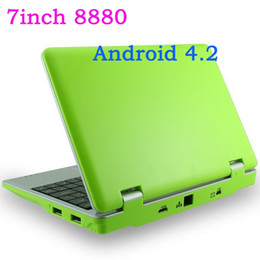 Wholesale 7Inch Dual core Android VIA VM8880 Netbook Notebook Google with Camera HDMI G GB Bluetooth Option MINI Laptop DHL Free