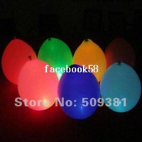 Wholesale 50 Led Light Flashing Balloons Chinese Conventional Festival Balloons Wedding Decoration Colour