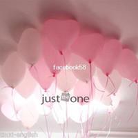 achat en gros de ballons coeur de latex-90 pc Belle Mignon Cœur des Ballons des Coeurs Roses LATEX Ballon d'Hélium pour la Partie Décoration à la Maison de la livraison Gratuite