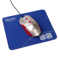 Wholesale High quality super soft deslick Gaming Mouse mats with TOMTOP Logo C571 DHL freeshipping