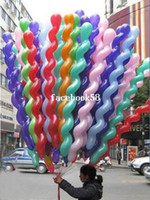Wholesale Screwed Latex Twisting Spiral Balloons Conventional Festival Balloons Wedding Party amp Holiday Decoration