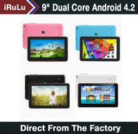 "Cheap iRuLu 9"" Android 4.2 Tablet PC Allwinner A20 Dual Core Dual Camera Capacitive 512MB 8GB 9 inch Tablet PC Android Tablet PC"