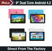 """iRULU 9 """"PC androide de la tableta PC Allwinner A33 Quad Core de doble cámara capacitiva 512MB 8GB de 9 pulgadas Tablet PC androide de la tableta de Bluetooth"""