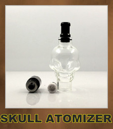 Skull Wax Glass Globe Tank Dry Herb Vaporizer Clearomizer Atomizer for Ego Series ego vv ego twist Electronic Cigarette
