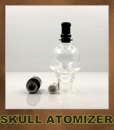 Skull Wax Glass Globe Tank Dry Herb Vaporizer Clearomizer Atomizer for Ego Series ego vv ego twist Electronic Cigarette