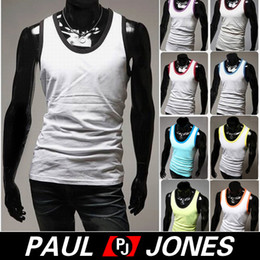 Wholesale PJ Men Fashion Causal Elastic Tank Top A Shirt Wife Beater Size S L CL5525