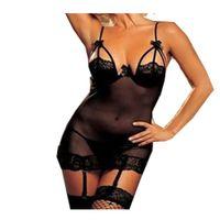 Wholesale S5Q Sexy Lingerie Women s Babydoll Underwear Sleepwear Outfit G String Stocking AAADIL