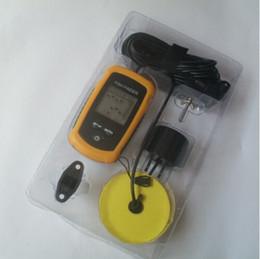 Sonar portátil LCD peces de profundidad del Finder, alarma 100M AP, buscador de los pescados electrónicos