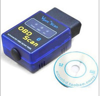 Wholesale 2014 Latest Version MINI ELM Bluetooth Vgate Scan OBD2 OBDII ELM327 Code Scanner