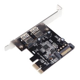 L'USB 3.0, PCI-E Carte PCI Express SATA à 15 broches Connecteur d'Alimentation avec Support Profil Bas C1546
