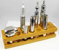 Wholesale Newest ECig Display wooden stand wood display holder ego e cigarette display stand rack for vaporizer ego battery mod e cigs protank ce4 mt3