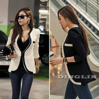 Wholesale High quality Fashion New Korean Women Ladies Wear To Work Long Sleeve Slim Casual Career OL Blazer Coat Peplum Jacket Suit S M L