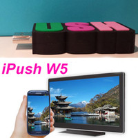 HDMI w5 iPush Newest Arrival iPush TV WiFi Dongle iPush W5 Support 1080p Outpu For Android IOS Windows Smart Devices Multi-screen Sharing