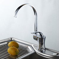 Wholesale Solid Brass Kitchen Faucet Chrome Finished Hot and Cold Water Kitchen Mixer