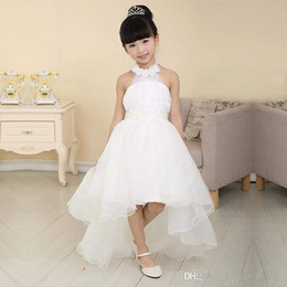 new design A-line flower girl dresses organza piping princess dress hil_lo free shipping custom made high quality halter lovely dress