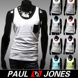 Wholesale PJ Men Fashion Causal Elastic Tank Top A Shirt Wife Beater Size S L CL5526