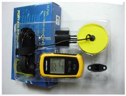 Sonar portátil LCD peces de profundidad del Finder, alarma 100M AP, pescados electrónicos Buscador del envío libre de la tienda de kakacola