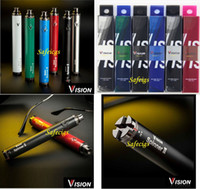 Wholesale Newest Vision Spinner II mah Battery for Electronic Cigarette E Cigarette Cig for eGo Clearomizer Various color in Retail Packaging