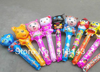Multicolor inflatable cartoon - Hot sales cheering stick cartoon stick inflatable toys party balloons CM around