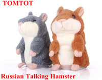 Wholesale 5 Russian Woody O time Talking hamster wooddy time stuffed animal toys speaking kid Toy repeat what u said in any language