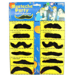 Wholesale 100sets New Arrival Halloween Party Cosplay Fake Mustache K08090