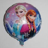 party happy birthday - Cartoon Metallic Happy Birthday Decoration Frozen Princess Queen Anna Round Balloon for Kids Party Supplies Foil Ballon inch